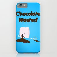 Chocolate Wasted (blue) iPhone 6 Slim Case