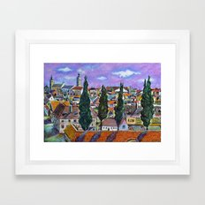 Landscape from Sibiu, Transylvania Framed Art Print