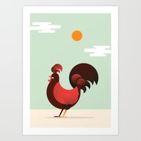 El Gallo Art Print