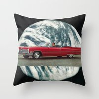 red mirror... Throw Pillow
