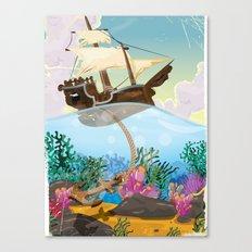 Caribbean Sailship Dropp… Canvas Print