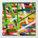 Lisa (stripes 11) Canvas Print
