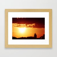 Red Star Framed Art Print