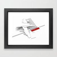 Malevich 3D [B&W] Framed Art Print