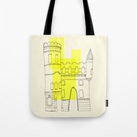 yellow castle Tote Bag