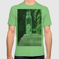 Queen Anne's Lace/Jar w/ bokeh Mens Fitted Tee Grass SMALL