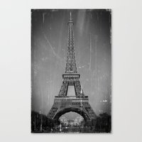 Vintage Eiffel Tower Canvas Print