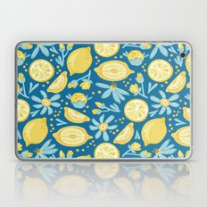 Lemon Pattern Blue Laptop & iPad Skin