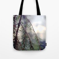 sunset in the woods. Tote Bag