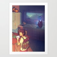 The Glass Boy Art Print