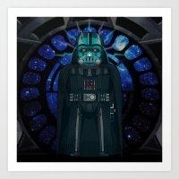Emperor's Wrath Darth Vader Art Print
