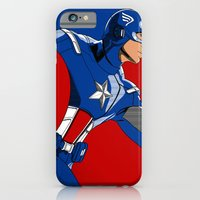 iPhone & iPod Case featuring Captain 'merica by C Rhodes Design