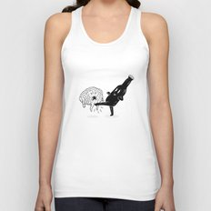 Stop Thinking Start Drinking Unisex Tank Top