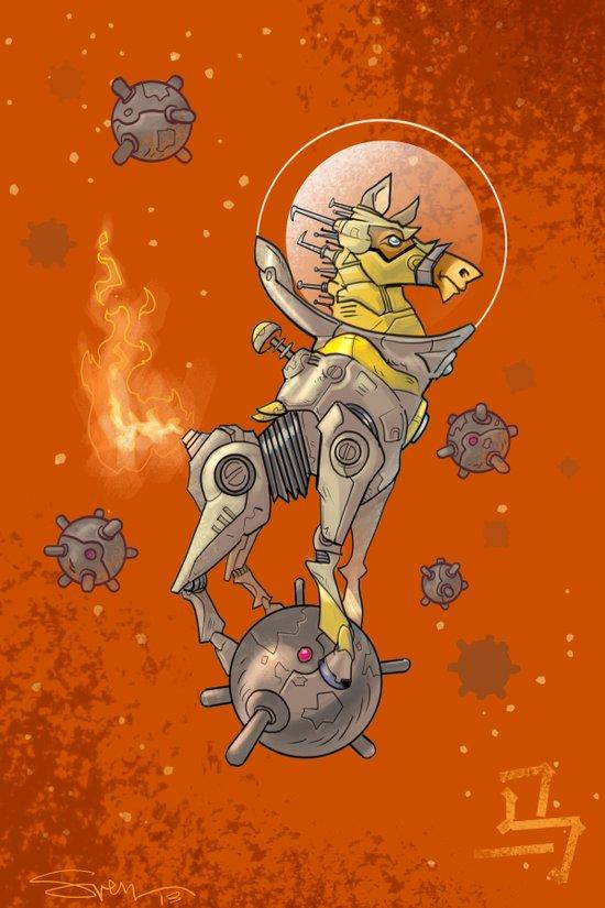 Astro Zodiac Force 07: Horse Art Print