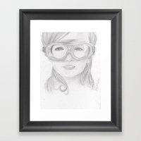Goggles Girl  Framed Art Print