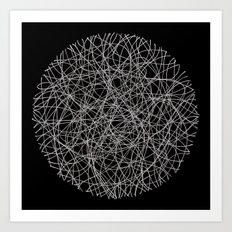Circle - Lines - Inverted Art Print