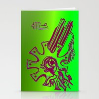 Simplistic Alien Stationery Cards