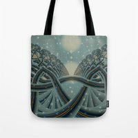Celtic Winter Forest Tote Bag