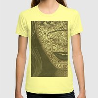Face  Womens Fitted Tee Lemon SMALL