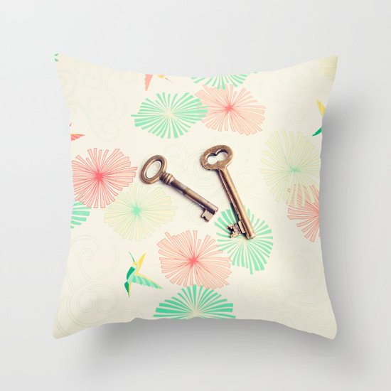 Keys Throw Pillow by AC Photography Society6