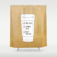(More) Coffee Shower Curtain
