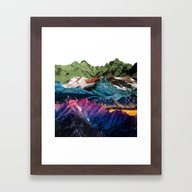 Dream Nature MOUNTAINS Framed Art Print