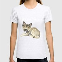 Cairn Terrier Womens Fitted Tee Ash Grey SMALL