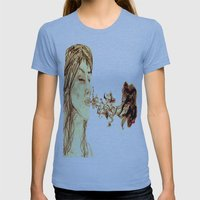 Purple Smoke Womens Fitted Tee Athletic Blue SMALL