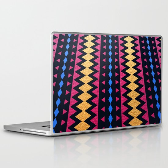 Aztec Pattern with Textured Appearance Laptop & iPad Skin