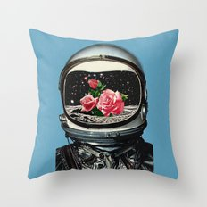 Spring Crop at the Rosseland Crater Throw Pillow