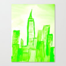 Green with Empire Canvas Print