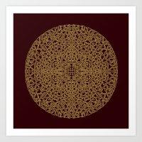 Puzzled (Moroccan Mandal… Art Print