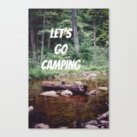 Let's Go Camping II Canvas Print