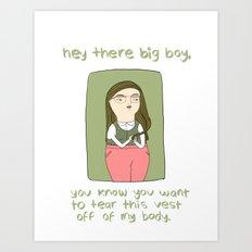 Horny Nerdy Girl Art Print