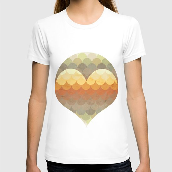 Half Circles Waves Color T-shirt