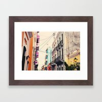 Colorful Buildings Of Ol… Framed Art Print