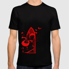 Beati Vespertilionem: Red Mens Fitted Tee Black SMALL