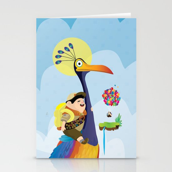 Kevin and russel Stationery Card