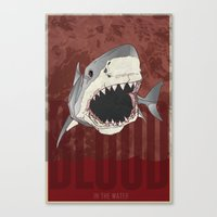 Blood in the Water Canvas Print
