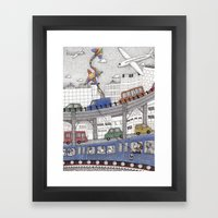 Taking the Red Line Framed Art Print