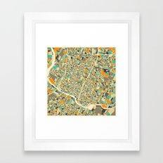 Austin Map Framed Art Print