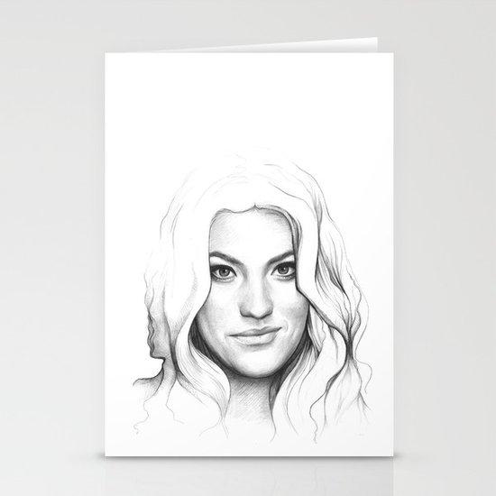 Jennifer Carpenter | Debra Morgan Portrait Stationery Card