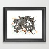 Walking mountain  Framed Art Print
