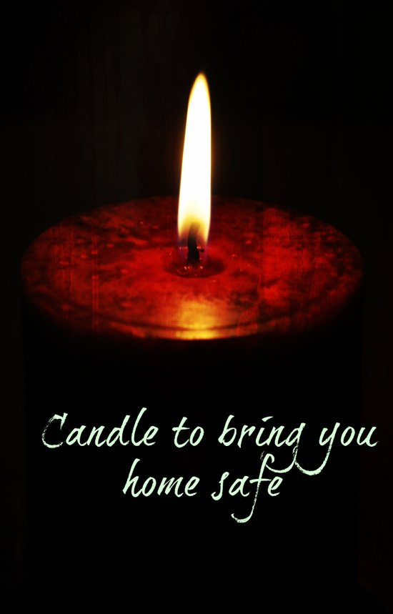 A candle to bring you home Art Print