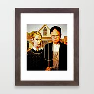 Dwight Schrute & Angela … Framed Art Print