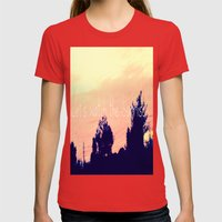 Let's Watch the Sunrise Womens Fitted Tee Red SMALL