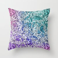Tangle Pattern #002 Throw Pillow