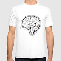 Brain Mens Fitted Tee White SMALL