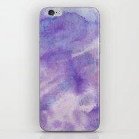 Purple Square iPhone & iPod Skin