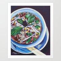 Pho Soup Art Print